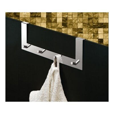 Gedy by Nameeks Appendiabitti Over Door Four Prong Robe Hook in Chrome