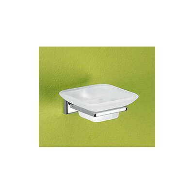 Gedy by Nameeks Colorado Soap Holder with Frosted Glass Container