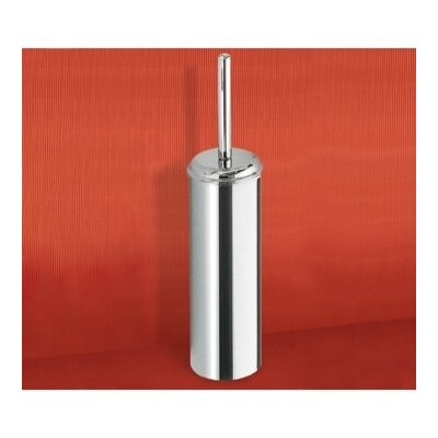 Gedy by Nameeks Ascot Free Standing Cylinder Toilet Brush Holder in Chrome