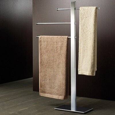 Gedy by Nameeks Bridge Sliding Three Tier Towel Stand in Chrome