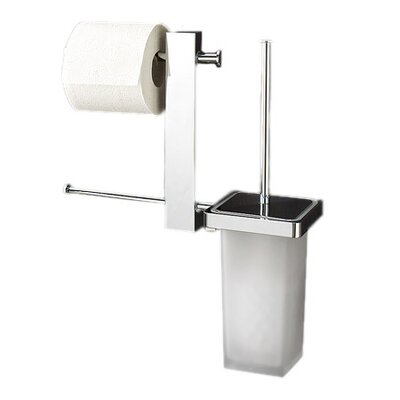 Gedy by nameeks bridge wall mounted bathroom butler with double toilet paper holder and toilet - Butler toilet paper holder ...
