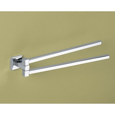 "Gedy by Nameeks Colorado 14"" Wall Mounted Swivel Towel Bar"
