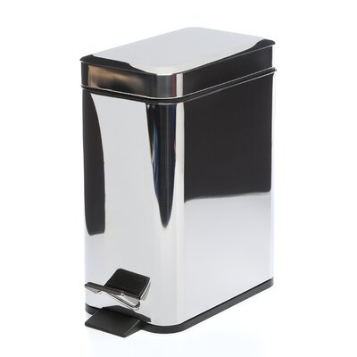 Gedy by Nameeks Argenta Rectangular Waste Bin in Stainless Steel