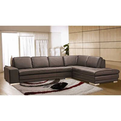 Hokku Designs Block Leather Sectional