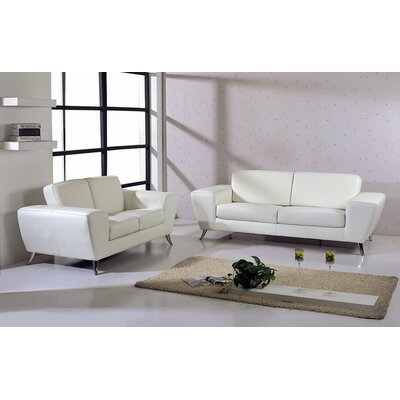Hokku Designs Julie Leather Living Room Collection