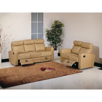 Hokku Designs Slope Dual Reclining Leather Living Room Collection