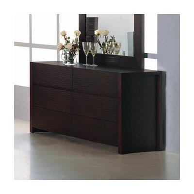 Hokku Designs Etch 6 Drawer Dresser