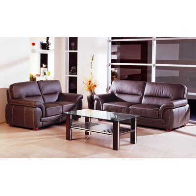Beverly Hills Furniture Sienna Leather Living Room Collection