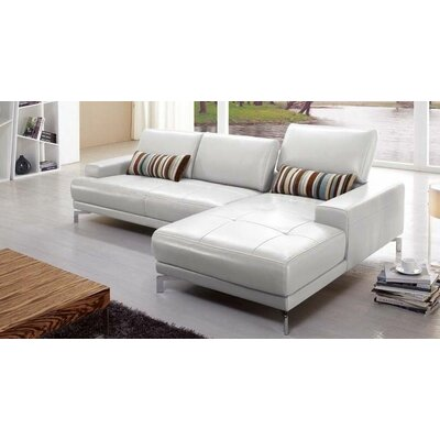 Hokku Designs Urban Leather Right- Chaise Sectional