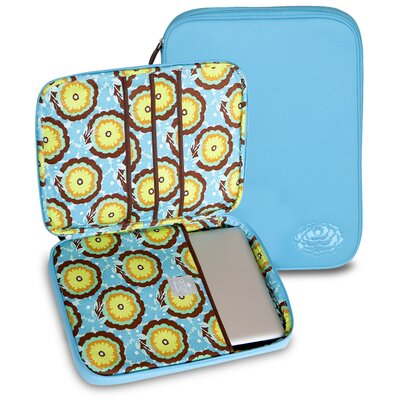 Amy Butler Nola Laptop Wrap in Buttercups Turquoise