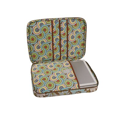 Amy Butler Nola Turquoise Fern Flower Laptop Wrap