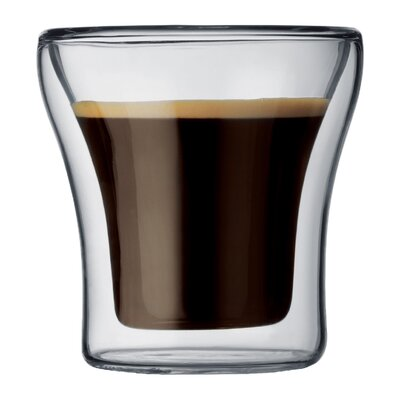 Bodum Assam 3 oz. Double Wall Shot / Espresso Glasses