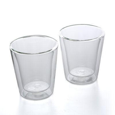 <strong>Bodum</strong> Canteen 6 oz Double Wall Insulated Glass Cup (Set of 2)