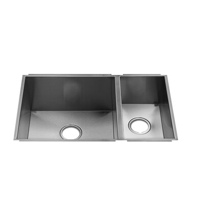 "Julien UrbanEdge 7.75"" x 14.75"" Undermount Stainless Steel Double Bowl Kitchen Sink"