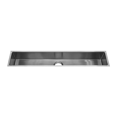 "Julien J7 43.5"" x 8.5"" Undermount Stainless Steel Single Bowl Specialty Sink"