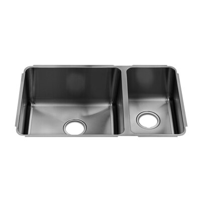 "Julien Classic 29"" x 17.5"" Undermount Double Bowl Kitchen Sink"