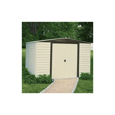 Arrow Dallas Vinyl Coated Steel Storage Shed
