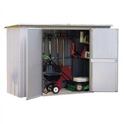 "Arrow 7'10"" W x 2'11.25"" D Steel Tool Shed"