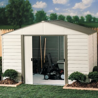 Arrow Milford Vinyl Coated Steel Storage Shed