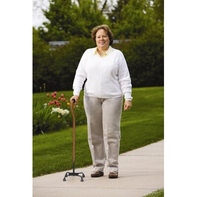 Carex Small Base Quad Cane with Soft Cushion Handle