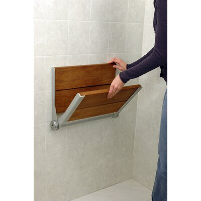 HealthCraft Invisia SerenaSeat Fold-Away Brazilian Walnut Shower Seat