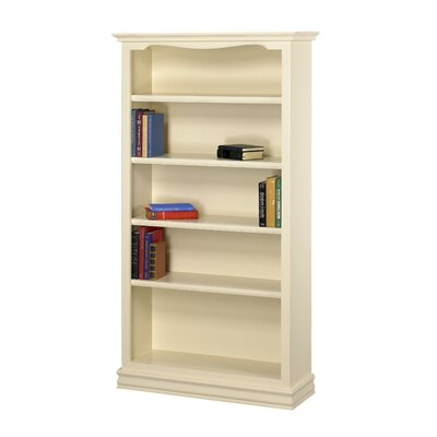 A&E Wood Designs Cape Cod Bookcase in Pearl White