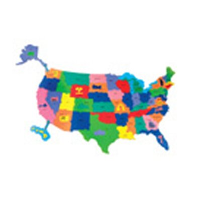 Chenille Kraft Company Giant Wonderfoam Us Puzzle Map