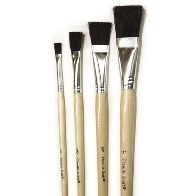 Chenille Kraft Company Black Bristle Easel Brush 6-set