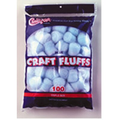 Chenille Kraft Company Craft Fluffs Blue