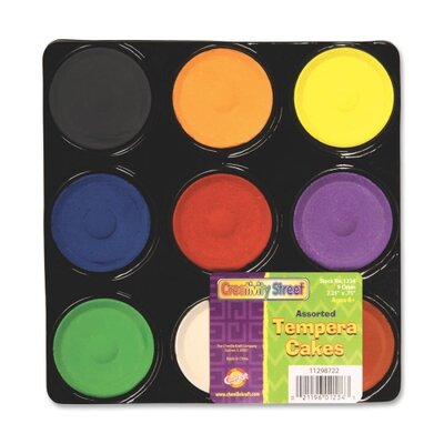 Chenille Kraft Company Tempera Paint Blocks , Non-Toxic, 9 Set, Assorted