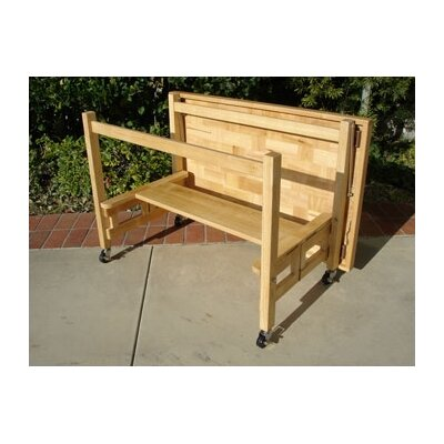 Oasis Concepts Kitchen Cart with Butcher Block Top