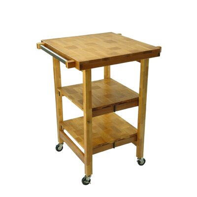 Oasis Concepts Kitchen Island with Butcher Block Top