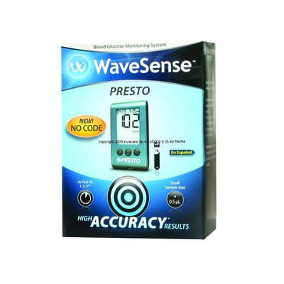 AgaMatrix Wavesense Presto Blood Glucose Meter Kit