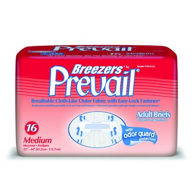First Quality Breezers by Prevail Adult Briefs in White (Medium)