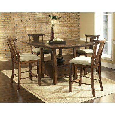 Somerton Dwelling Dakota Pub Table in Distressed Rich Brown