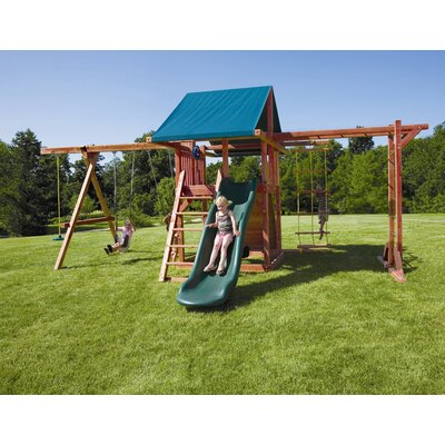Redwood Grand Stand Swing Set