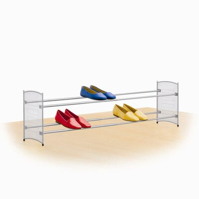 Lynk Expandable/Stackable Mesh Sided Shoe Rack