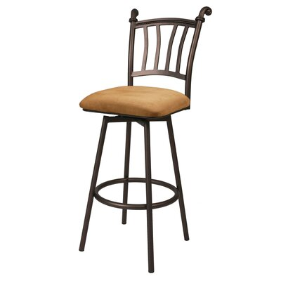 "Pastel Furniture Fairfield 26"" Swivel Bar Stool with Cushion"