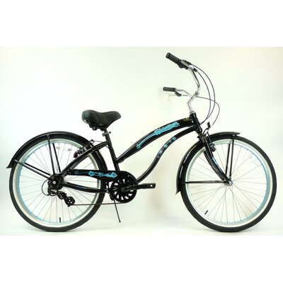 "Greenline Bicycles Ladies 26"" Aluminum 7-Speed Shimano Premium Extended Deluxe Beach Cruiser"