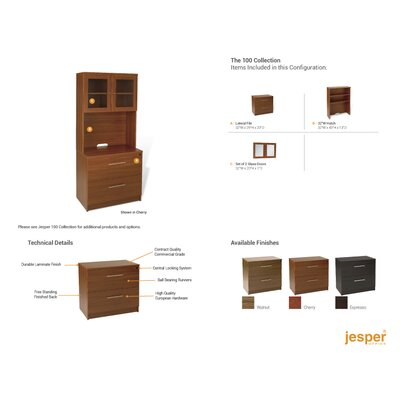 Jesper Office Pro X - Lateral File and Hutch Set