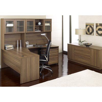 "Jesper Office 63"" Crescent Desk Suite with Hutch"