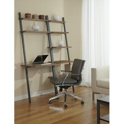 Jesper Office Parson Ladder Bookcase with Writing Desk