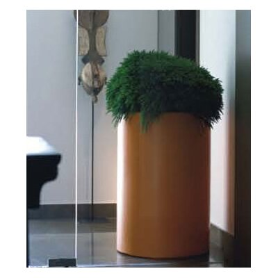 Smart & Green Fang Cilinder Lacquered Round Flower Pot Planter