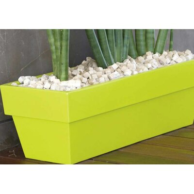 Smart & Green Fang Conic Jardiniere Lacquered Rectangular Flower Pot Planter