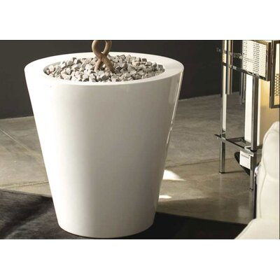 Smart & Green Foc Cono Lacquered Round Flower Pot Planter
