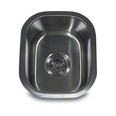 Nantucket Sinks Rectangle Undermount Bar / Prep Sink in Brushed Satin