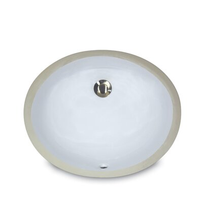 Oval Undercounter Bathroom Sink - UM-13x10