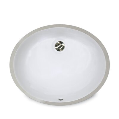 Oval Undercounter Bathroom Sink with Overflow - UM-15x12