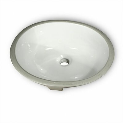 Oval Glazed Ceramic Bathroom Sink - GB-15x12-W