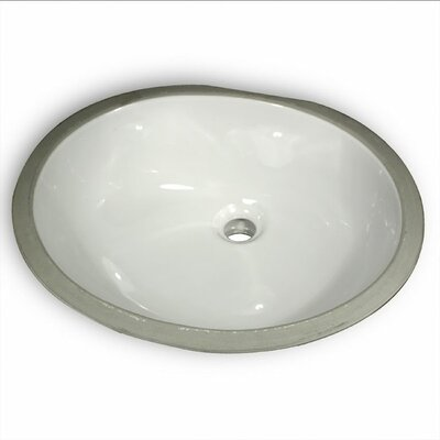 Oval Glazed Ceramic Bathroom Sink - GB-17x14-W